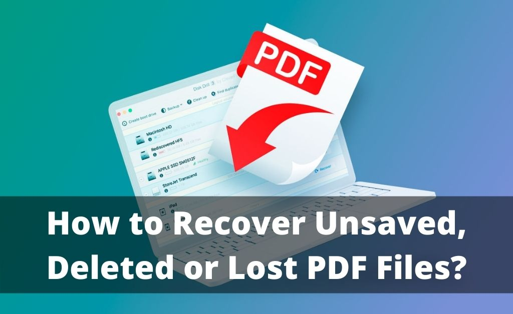 How to Recover PDF Files Unsaved