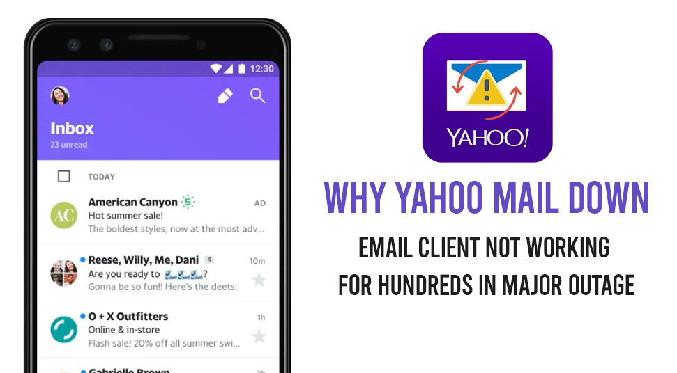 Why Yahoo mail Down
