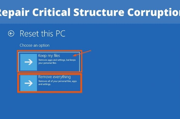 Critical Structure Corruption: How Do You Repair It?