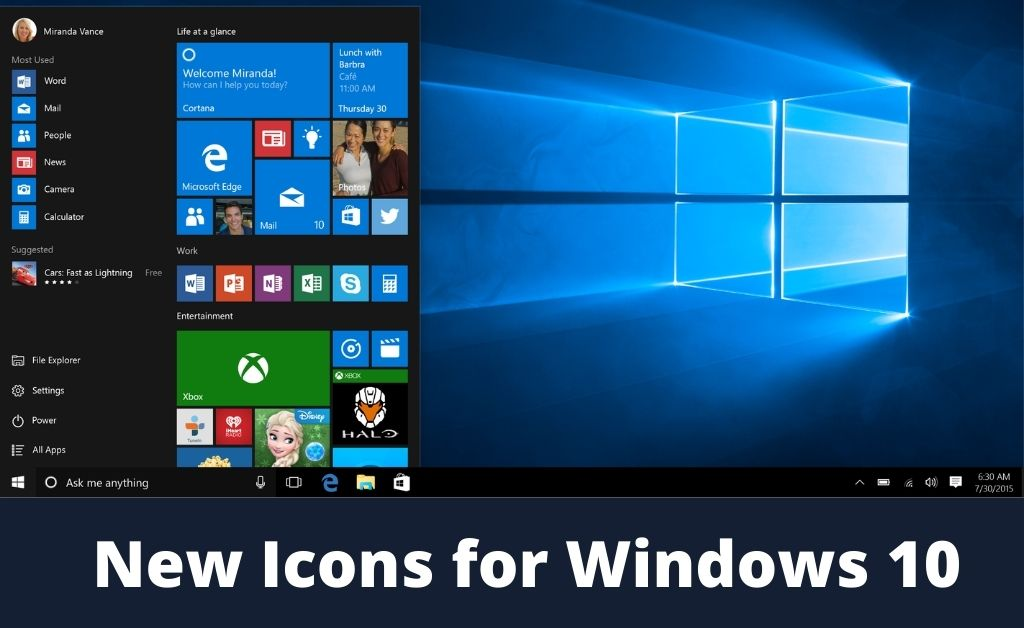 New Icons for Windows 10